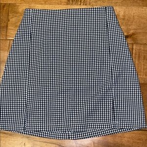 Brandy Melville gingham mini skirt